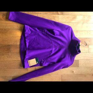 The North Face fleece zip top size medium